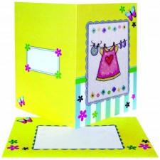 Meisjesbaby kaart - Baby Girl Card