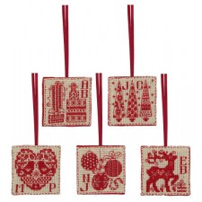Kersthangertjes (set van 5) - Christmas Tags (Set of 5)
