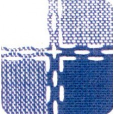 Beiers bont blauw/bleu/wit