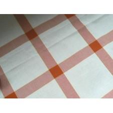 Tafelkleedje vierkantenL.bruin-wit