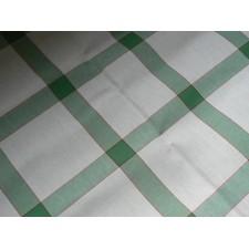 Tafelkleedje vierkanten groen-wit