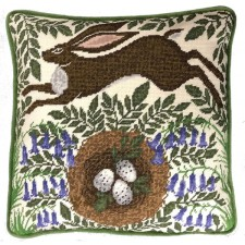 Cushion cross stitch kit Catherine Rowe - Spring Hare - Bothy Threads