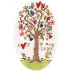 Cross stitch kit Kim Anderson - Sweet Tree Card - Bothy Threads