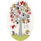 Cross stitch kit Kim Anderson - Silver Celebration - Bothy Threads