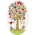 Cross stitch kit Kim Anderson - Golden Celebration - Bothy Threads