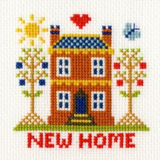 Cross stitch kit New Home Card - Bothy Threads