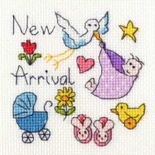 Cross stitch kit June Armstrong - New Baby Card - Bothy Threads