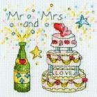 Cross stitch kit Amanda Loverseed - Cheers Card - Bothy Threads