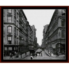New York Street Scene, 1919