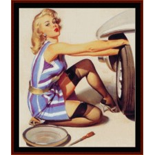 Pin-Up Changing Tire