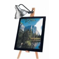 Lamp voor schildersezel zwart/chroom (spaarlamp)