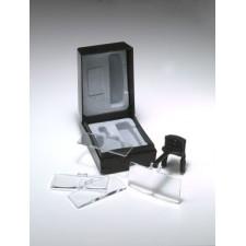 Box met lichtgewicht brilklem en 4 lenzen