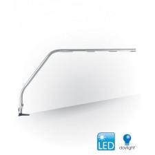 Double Power Slimline LED Tafellamp, Brushed Chrome