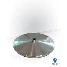 Slimline Table Base, Brushed Chrome