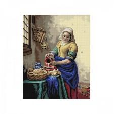 Het melkmeisje - The milkmaid (Johannes Vermeer)