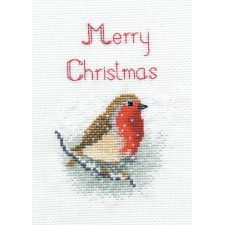 Kerstkaart Roodborstje - Snow Robin