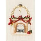 Kerstkaart Kersthaard - Christmas Fireplace