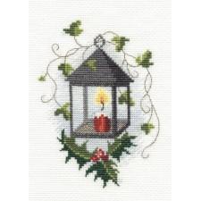 Kerstkaart Kerstlantaarn- Lantern