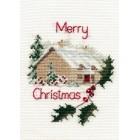 Kerstkaart Kersthuisje - - Christmas Cottage