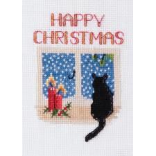 Kerstkaart Kerstkat - Christmas Cat