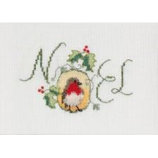 Kerstkaart Kerstroodborstje - Noel Robin