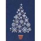 Kerstkaart Boom met sneeuwvlokken - Snowflake Tree