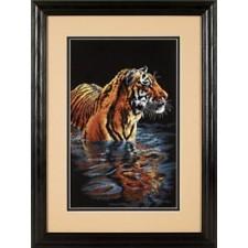 Tijger en spiegelbeeld (Tiger Chilling Out)