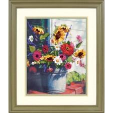 BORDUURKIT Emmer Bloemen - BUCKET OF FLOWERS