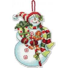 BORDUURKIT Sneeuwman met snoepgoed - SNOWMAN WITH SWEETS