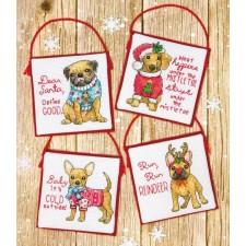 BORDUURKIT Kersthonden - CHRISTMAS PUPS