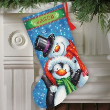 Kerstsok Poolvrienden (Polar Pals  Stocking)