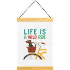 BORDUURKIT HET LEVEN IS EEN WILDE RIT - LIFE IS A WILD RIDE