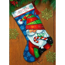Kerstsok Zoete Kerstman - Sweet Santa Christmas Stocking