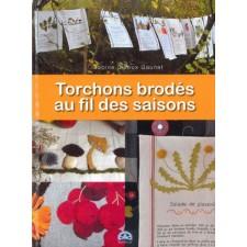 Theedoeken door de jaargetijden - Torchons brodés au fil des saisons