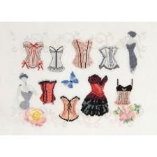 Merklap corsetten - Basques, Corset Sampler