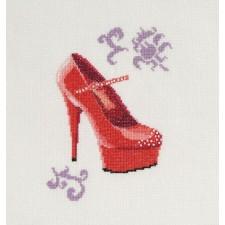Rode pump - Red Peep Toe Heels