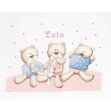 Geboortetegel teddydou: Lola