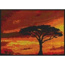 Zonondergang boven de Savanne - Savannah Sunset