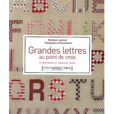 Grote letters in kruissteek - Grandes lettres au pont de croix