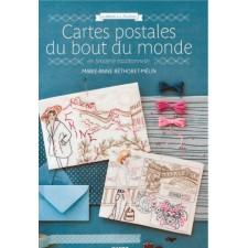 Ansichtkaarten uit de hele wereld in traditioneel borduren - Cartes postales du bout du monde en broderie traditionnelle