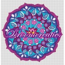 BOR04 Mandala Pink Lotus