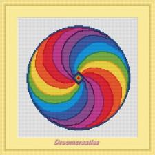 BOR08 Mandala Rainbow