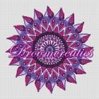 BOR02a Mandala Teardorps (purple)