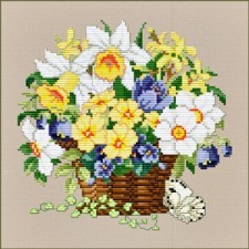 Mand lentebloemen