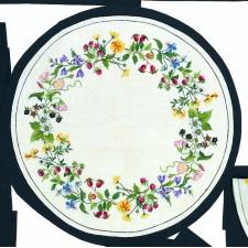 Tafelkleed bloemen en bessen