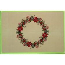 Kerstkleed ster van Bethlehem en bessen (star of Bethlehem and berries)