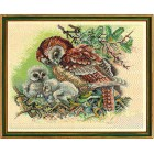 Uil met jongen (owl W.young ones)