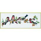 Vogeltjes op een tak (bullfinch)