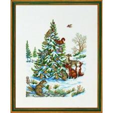 Dieren in winterse boom (animals in the wood)
