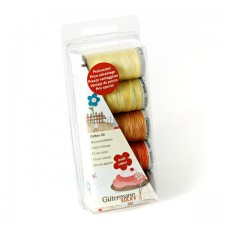 Borduurgarenset Cotton 30 geel/rood